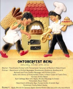 oktober fest menu